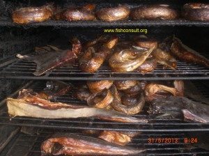 Fish smoking in Cameroon (03)