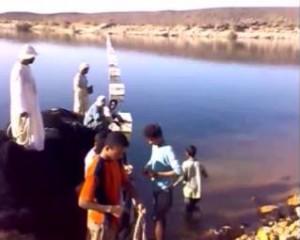 Building fish enclosure in Lake nasser