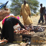 Fish smoking in Kiln in Chad (01)