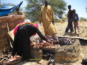 Fish smoking in Kiln in Chad (01)