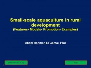 Small-scale aquaculture in Rural Development (Cover)